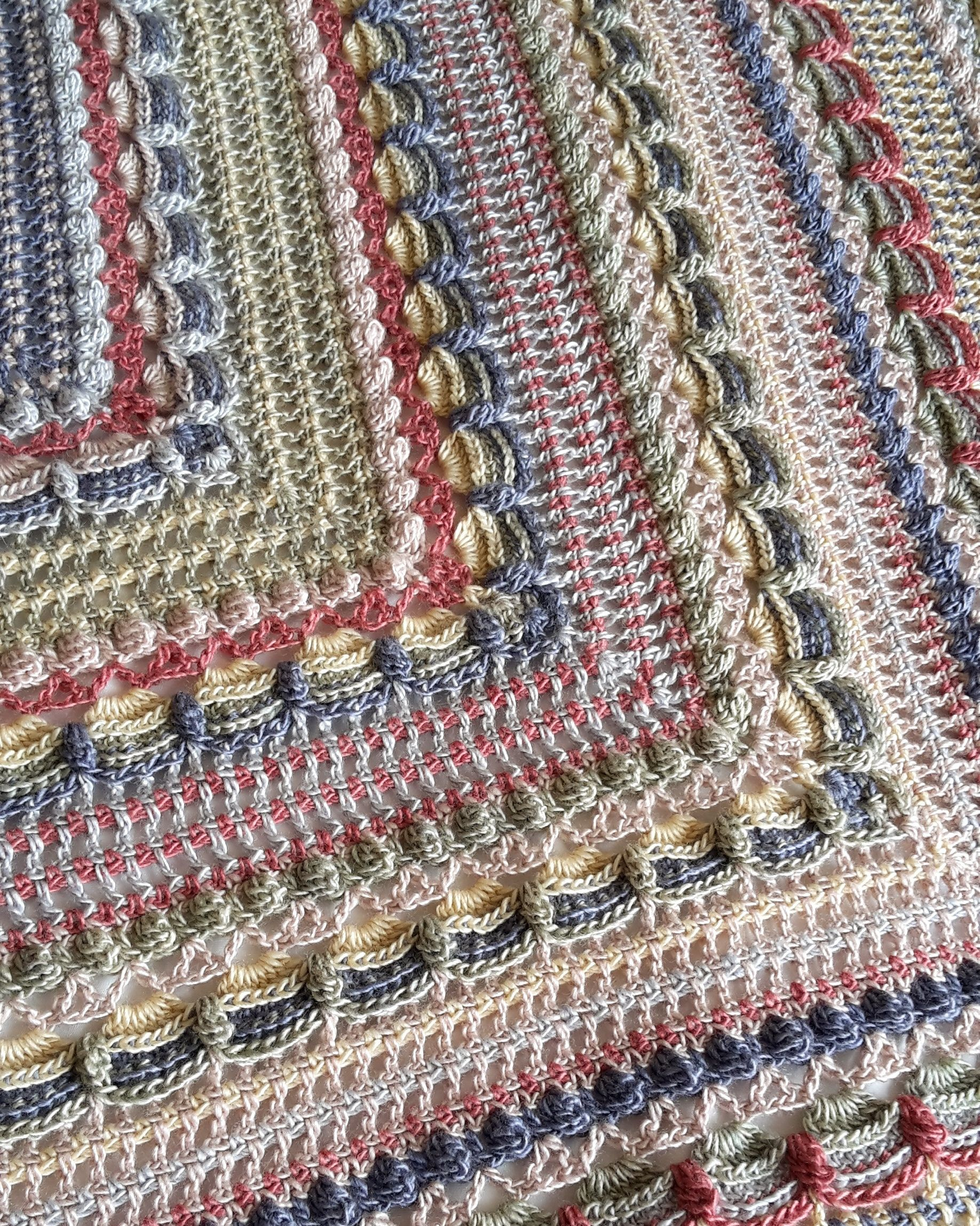 The Lost In Time SHawl crocheted by OOpsy Daisy Crochet using the ...