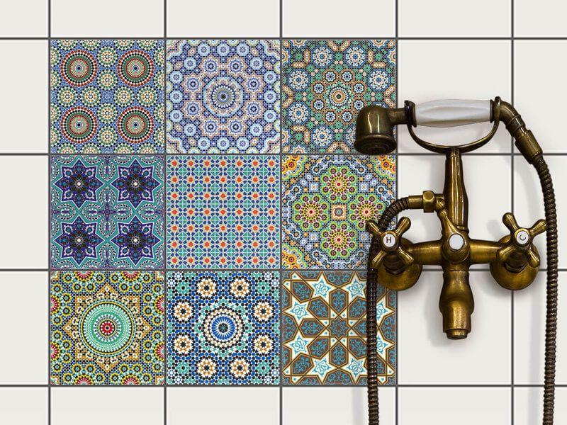 Fliesenaufkleber Set für Küche & Bad - Design ...