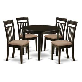 East West Furniture Bosca Cappuccino 5 Piece Dining Set With Round
