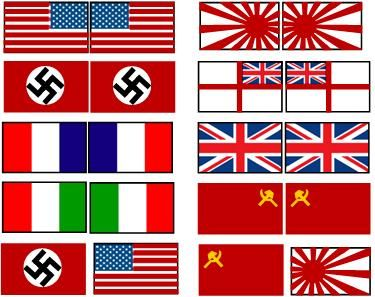 world war 1 flags