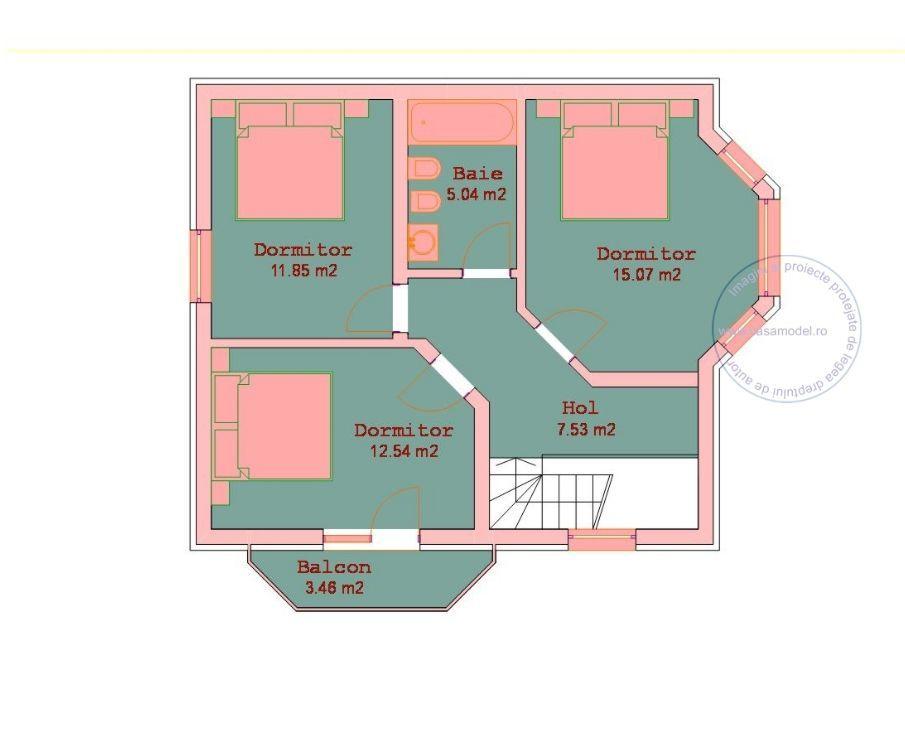 Proiecte de case pe teren de 300 mp 1 plan mansarda case for Progetti per la casa