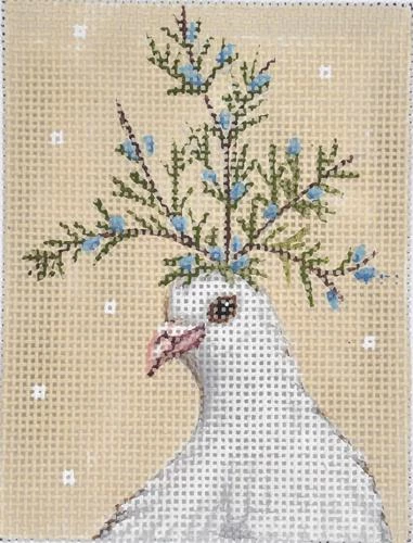 Needlepoint Canvas Hand Painted /'Urban Chicken/' Hand Embroidery