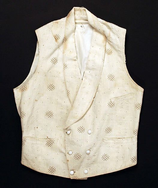 4231ac4ad5 c. 1840s) American waistcoat made of cotton and linen.
