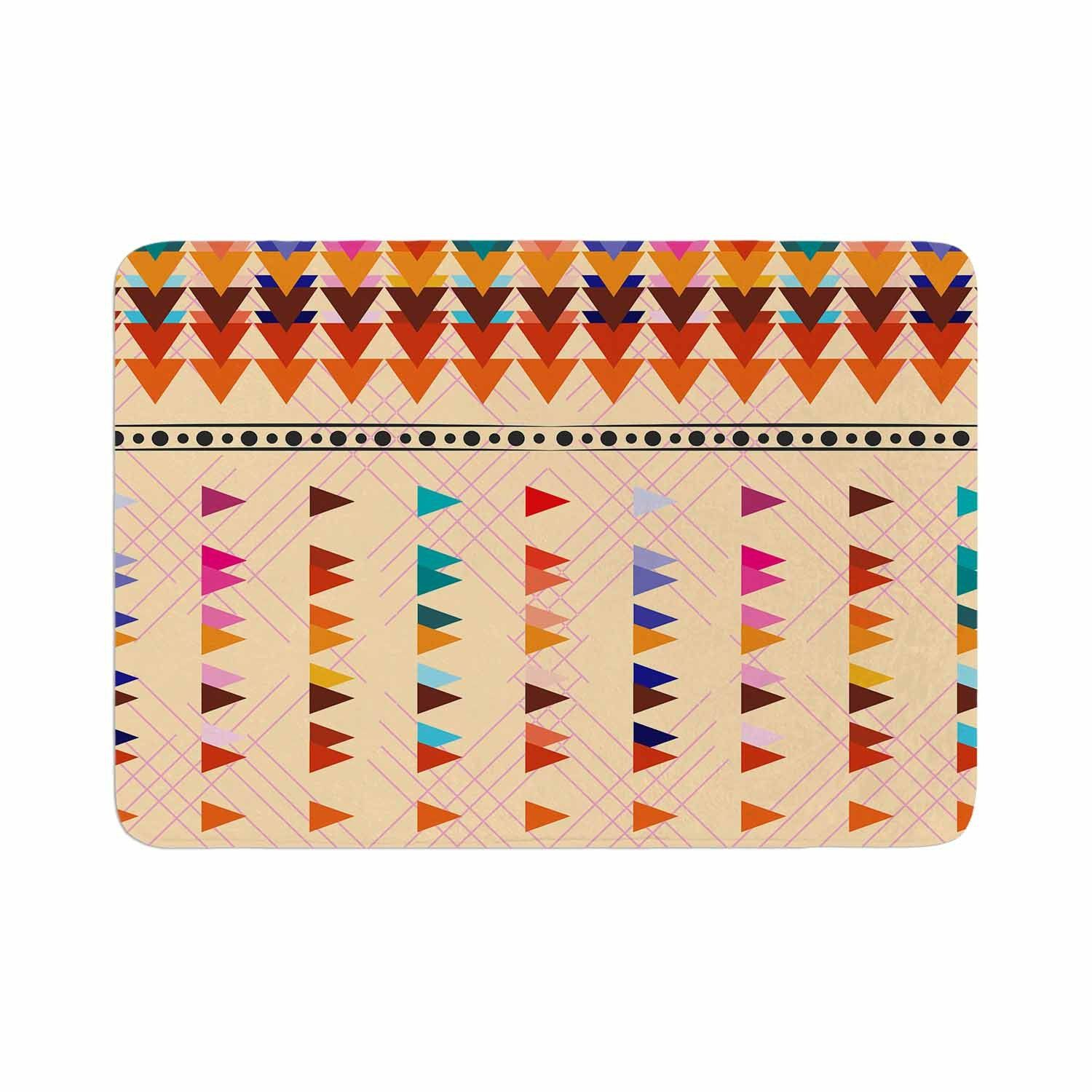 Famenxt Bohemian Triangle Pattern Orange Pastel Illustration