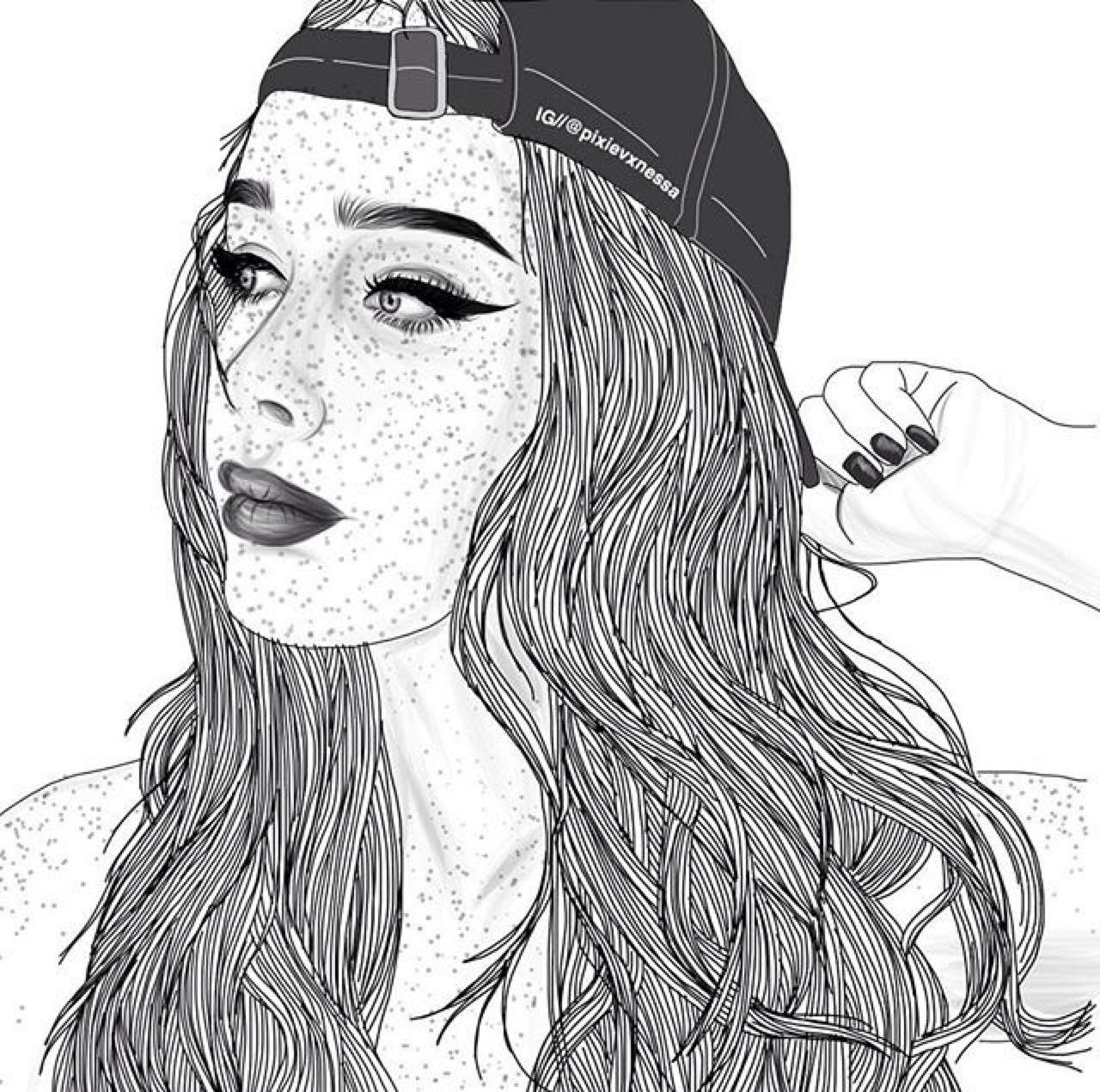 Baddies Tumblr Girl Drawing