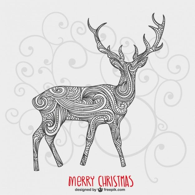 Christmas Card with Artistic Reindeer Free Vector is part of Artistic christmas cards, Christmas vectors, Christmas cards, Vector free, Free christmas, Christmas ecards - Christmas card with artistic reindeer Free Vector  All Free Download Vector Graphic Image from category Animal  Design by Freepik  File format available Ai  Vector tagged as Artistic, card, cards, Christmas card, Christmas cards, greetings, Merry, Merry Christmas, reindeer, Reindeer Clipart, Reindeers,