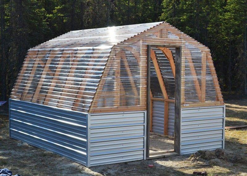 diy barn greenhouse glashaus outdoor pflanzen und treibhaus. Black Bedroom Furniture Sets. Home Design Ideas
