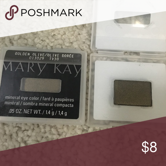 Mary Kay mineral eye color Golden Olive New with box. Brand new never used. I have two in stock selling for $8 each. Mary Kay Makeup Eyeshadow