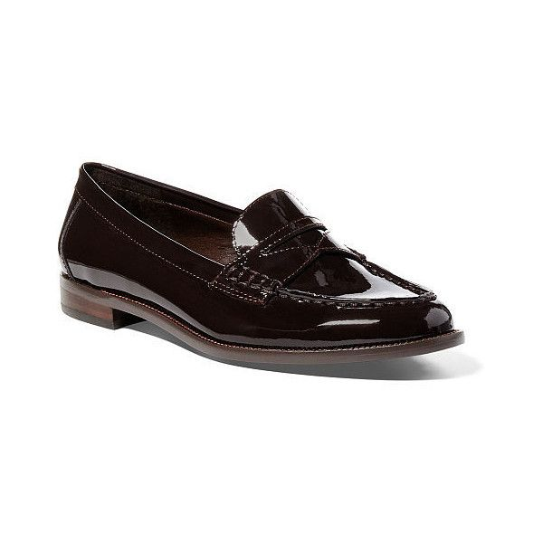 Ralph Lauren Lauren Barrett Patent Leather Loafer ($98) ❤ liked on Polyvore  featuring shoes