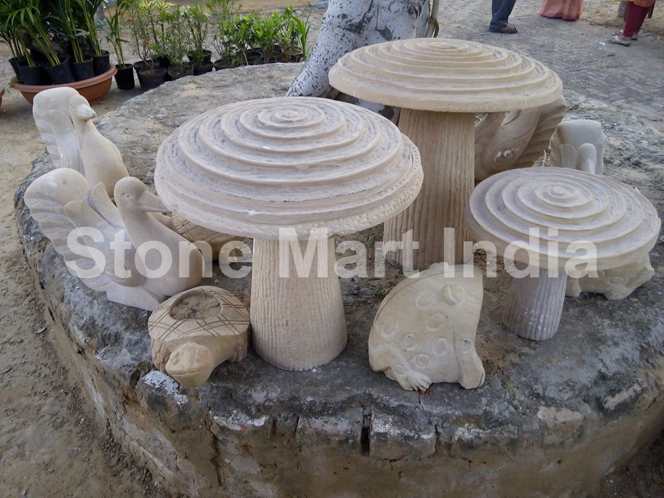 Stone Mart India offers natural stone animals and birds for garden