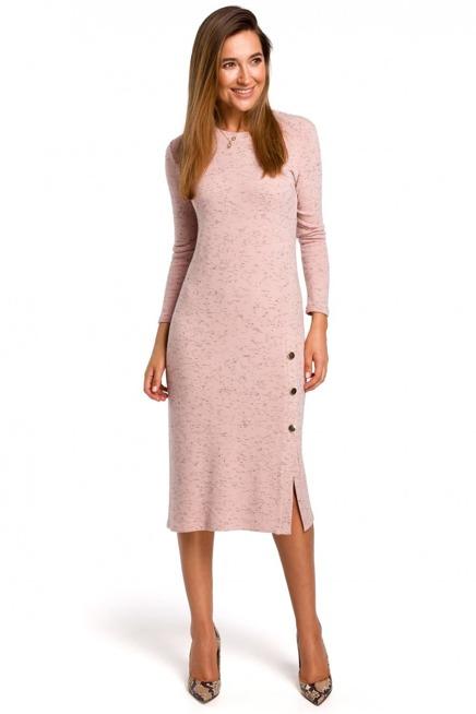 Dzianinowa Sukienka Midi O Lekko Dopasowanym Kroju Kobieta Odziez Sukienki Sukienki Shop Dresses Dress Style Fashion
