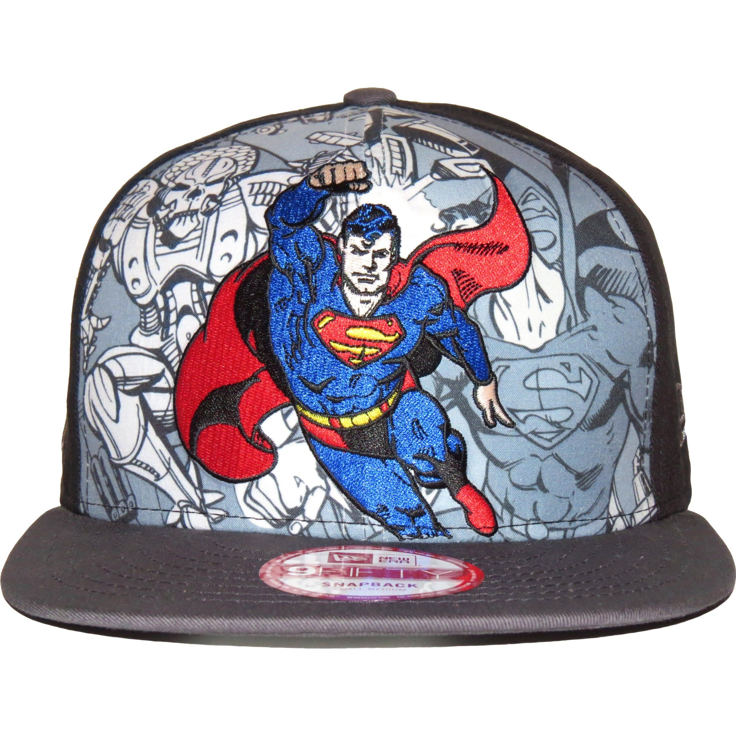 cd07a3a3042cf New Era 9Fifty Hero Break Out Superman Snapback Cap   New Era