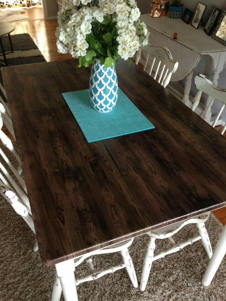 Vinyl covered dining table Vinyl Cover Dining Table Diner Table Dining Room Table & Vinyl covered dining table | kmart hacks | Dining Dining Table Table