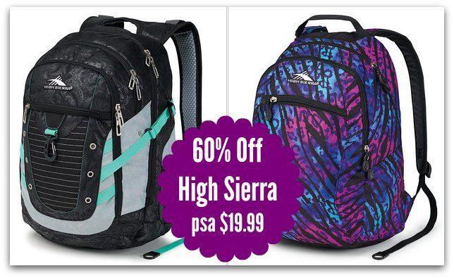 High Sierra Backpack Sale | Coupons & Deals | Pinterest | High ...