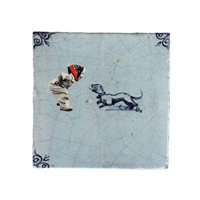 Marga van Oers voegt nieuwe figuren toe aan klassieke Hollandse witjes. Dat levert miniatuurverhalen vol subtiele humor op.