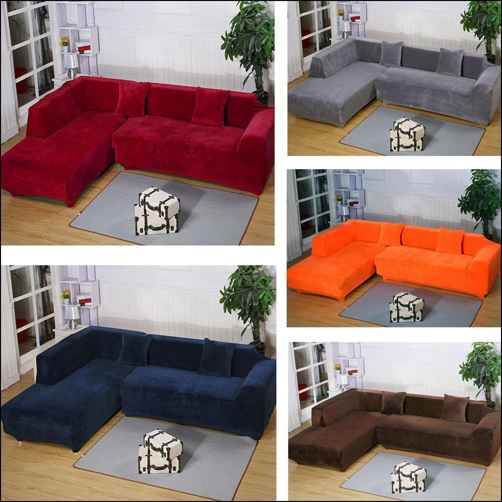L Shaped Couch Slipcover Sectional sofa slipcovers