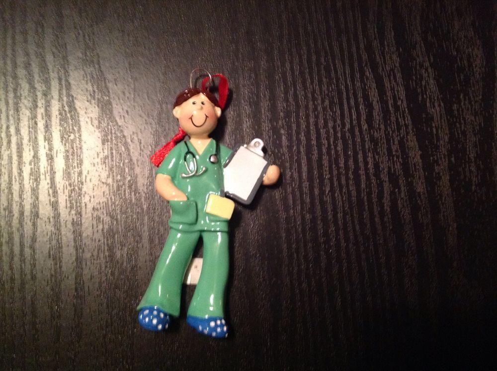 Male scrub nurse christmas ornament personalized nurse