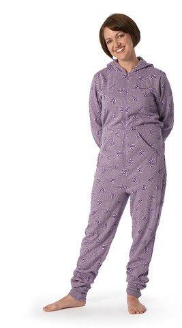 Ladies 'Purple Zebra Stars' Onesie
