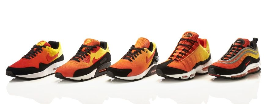 "differently 7bcb4 e0e90 Nike Air Max EM ""Sunset Pack"" – Officially Unveiled"