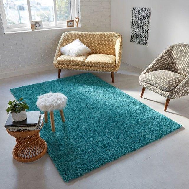Tapis shaggy XL, aspect laineux, Afaw Shaggy - dalle beton interieur maison