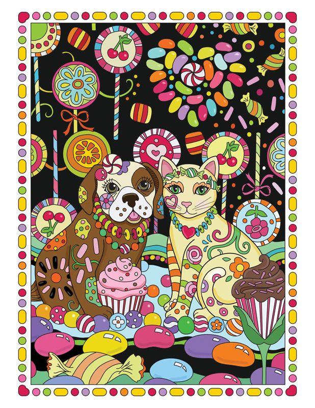 Marjorie Sarnat S Pampered Pets Lollipop Garden Color Pampered Pets Coloring Book Pamper Pets Cat Coloring Book