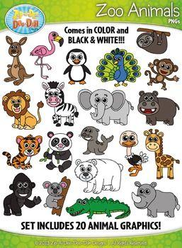 Zoo Animals Clipart Zip A Dee Doo Dah Designs Animal Clipart Zoo Animals Animals