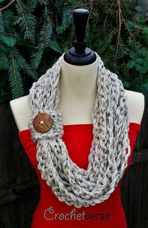 A Twofer Scarf Pattern & Learn Finger Crochet! | Finger crochet ...