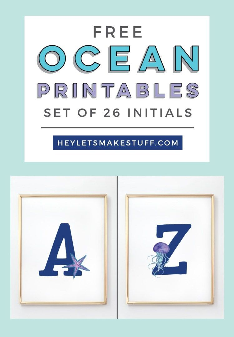 Head Under The Sea With These Cute Ocean Nursery Initials They Are The Perfect Finishing Touch To Your Child S Room In 2020 Ocean Nursery Ocean Themed Nursery Nursery