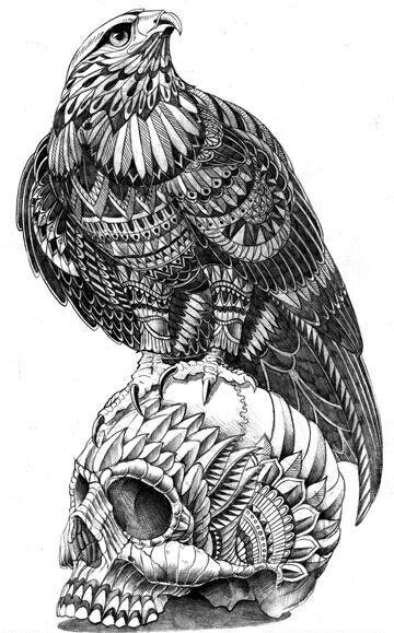 Pin De Gerardo A En Real Art Aguila Dibujo Dibujos Craneos Y Calaveras