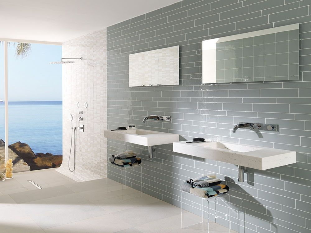 Medite Calpe Seagreen Wall Tiles 3 By 12 Tile