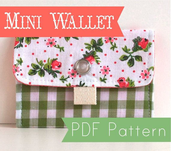 Mini Wallet PDF Sewing Pattern by PollyDangerNotions on Etsy, $6.00