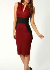 Elegant High Waist Tank Dress Black and Red - Online Shop! : Online Shop!