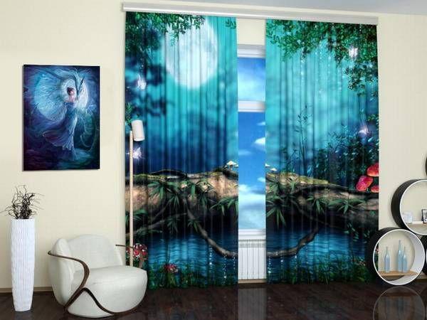 Digital Printing and Colorful Photo Curtains Bringing Modern Art ...
