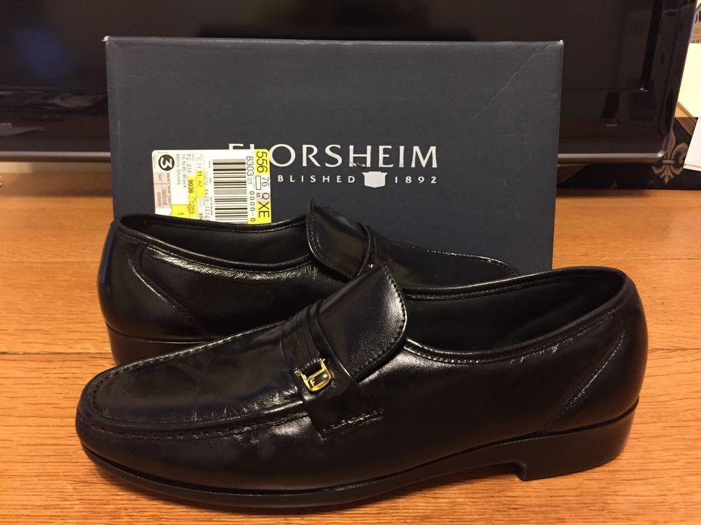Florsheim Comfortech Shoes Men S Size 10b Riva Black Loafers