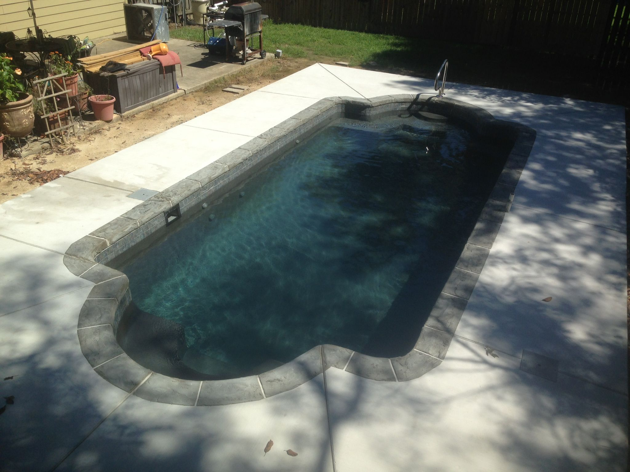 Central Pools Inc Baton Rouge La Trilogy Fiberglass Pool Hydra Med Bilder