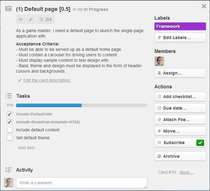 How to set up Trello board for Scrum Trello card, Resume
