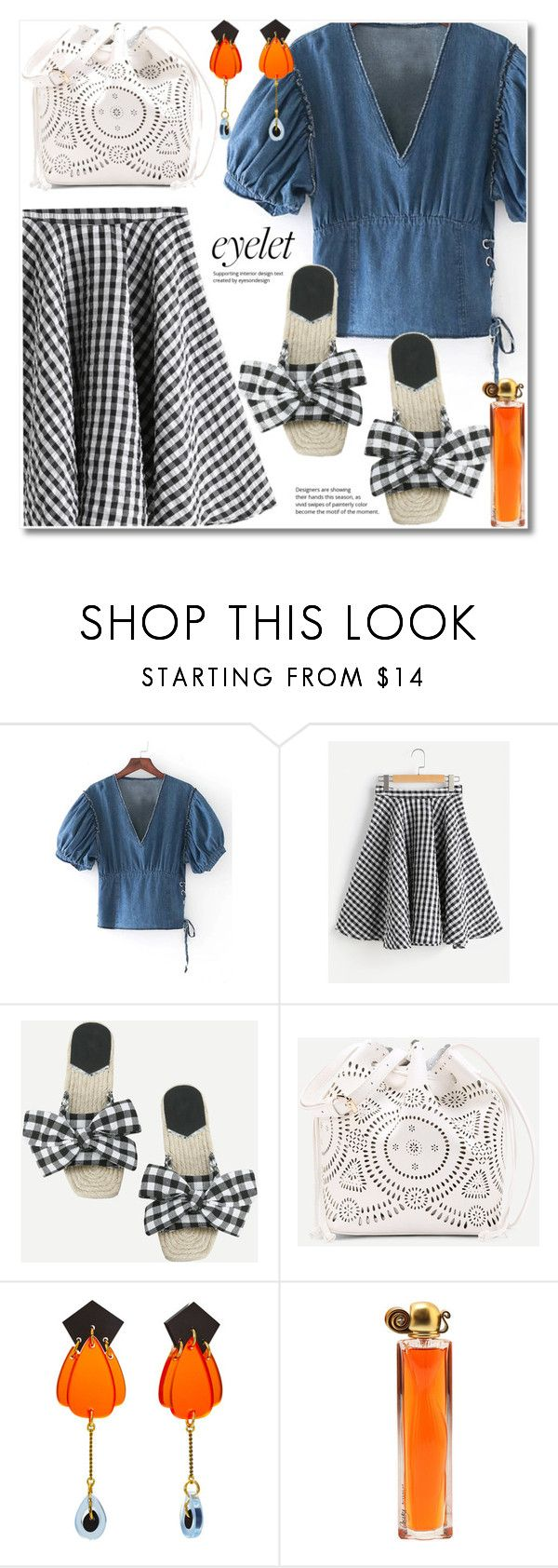 """""""Peek-A-Boo: Eyelet"""" by svijetlana ❤ liked on Polyvore featuring Givenchy, eyelet and shein"""