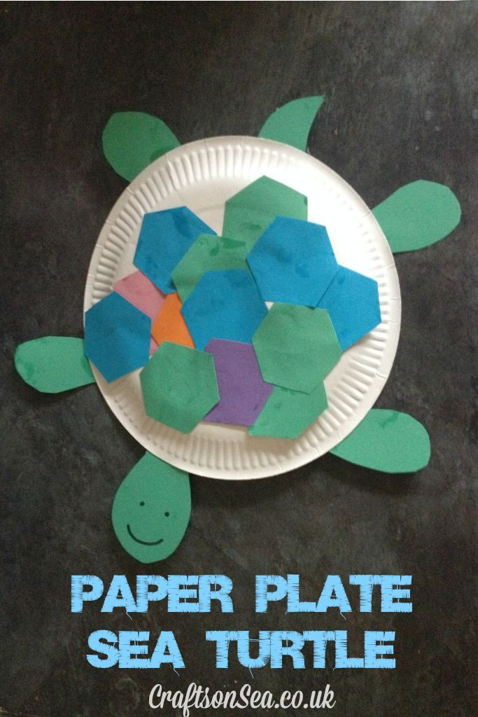 Paper Plate Sea Turtle Craft & Paper Plate Sea Turtle Craft | Elementary teaching Turtle crafts ...