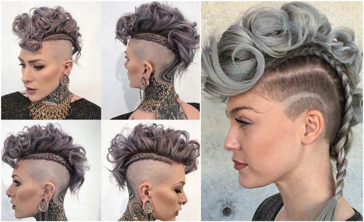 Iro Stylen Lange Haare Locken Geflochten Hairstyles Irokesenschnitt Mohawk Frisur Irokese