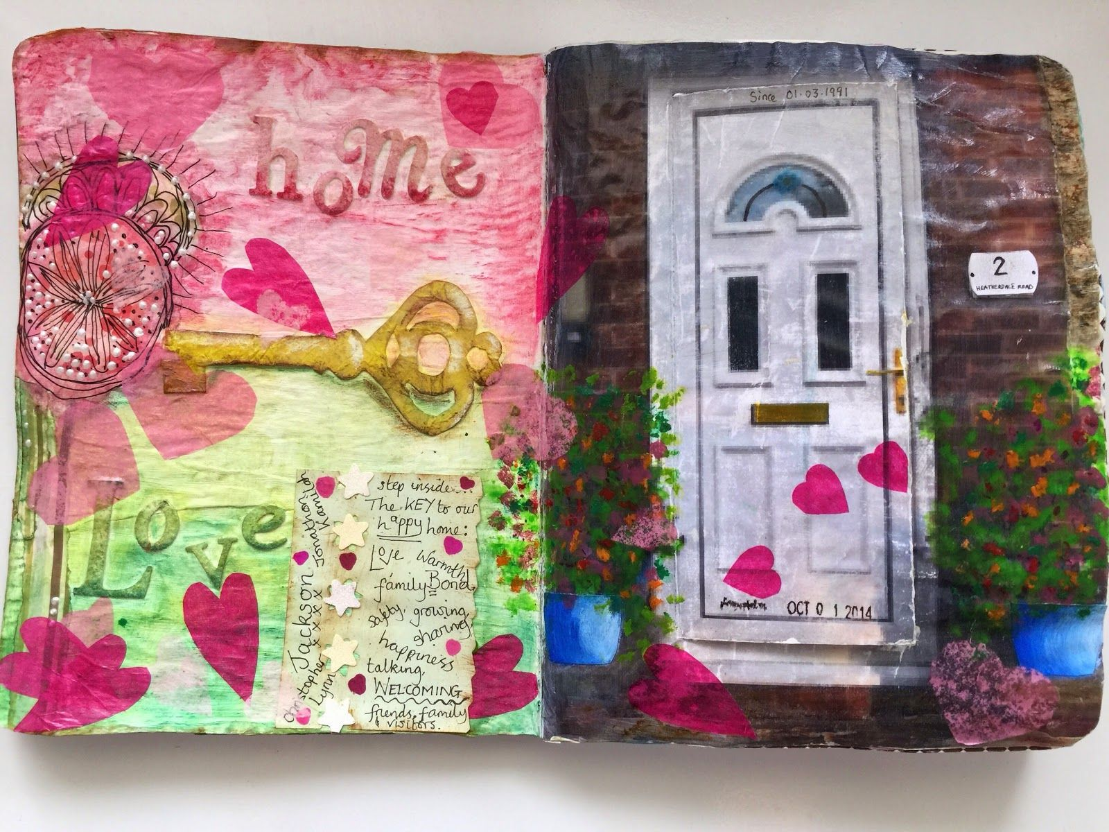 Art journal page creative soul by lmj dlp your front door art