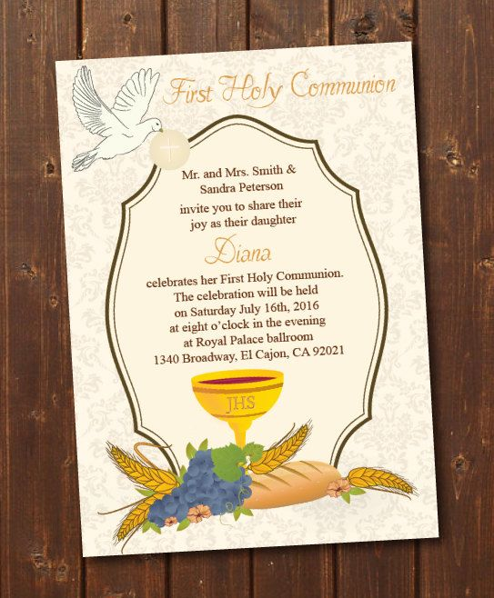 graphic regarding Printable First Communion Invitation titled Printable Initial Communion Invitation/To start with Holy Communion
