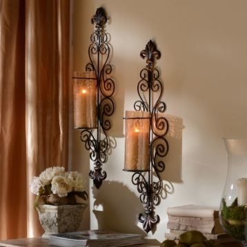 $29.99 Above Mantel Amber Dellacorte Sconce, Set of 2 7.75L x 5.25W x 28.5H in.