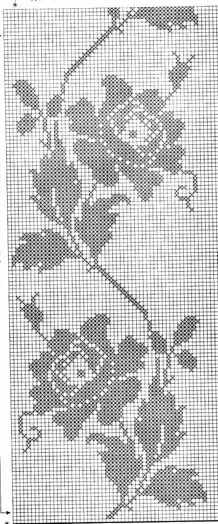 filet chart flower | филейное вязание крючком | Pinterest ...