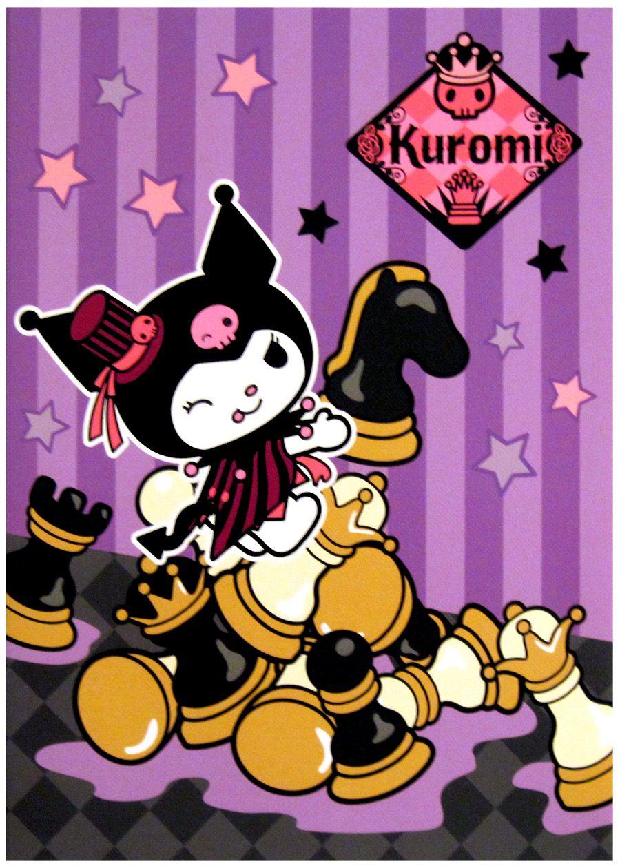 Sanrio My Melody Kuromi Chess Kawaii Notebook