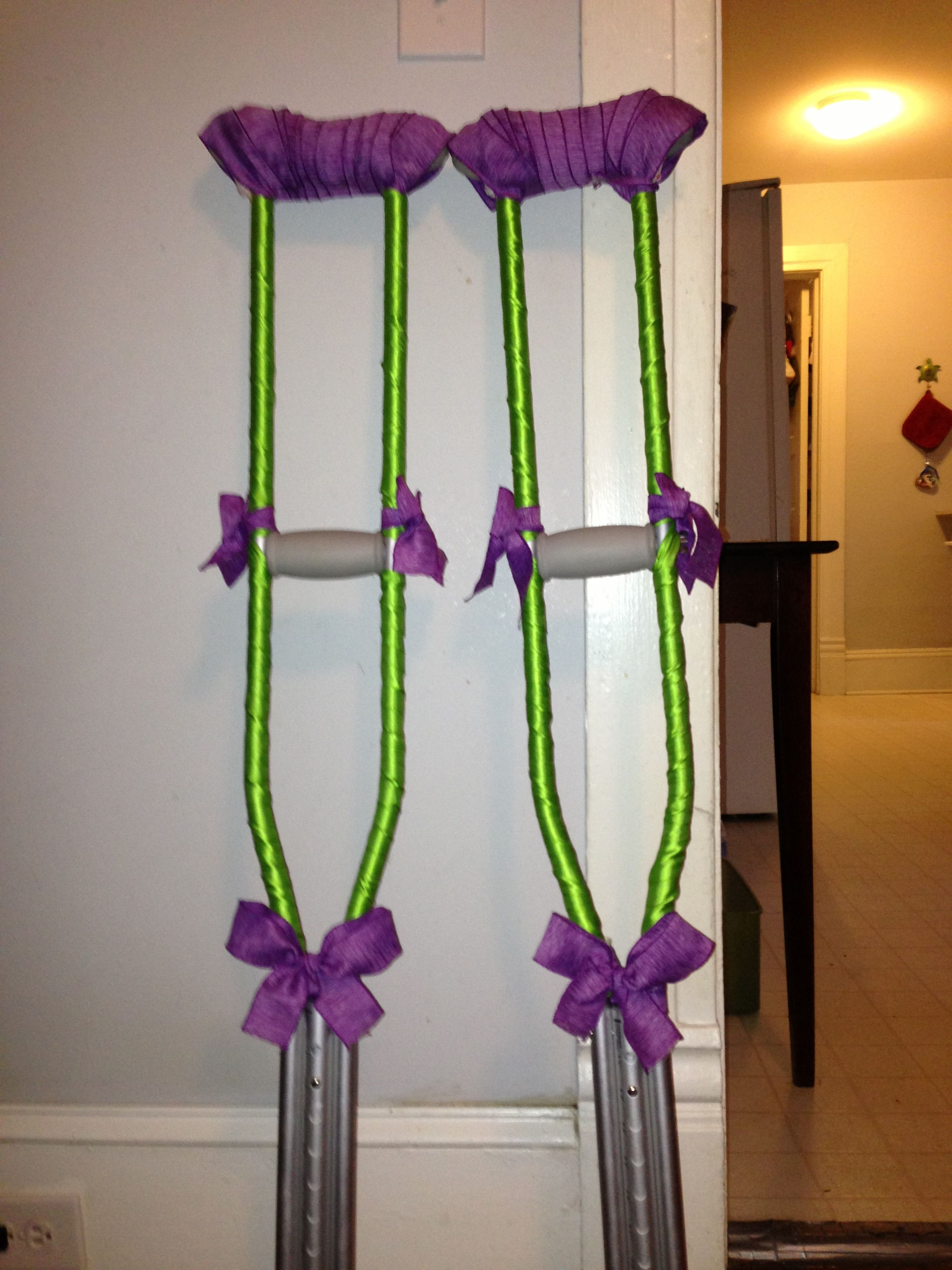 Decorated crutches on pinterest for Arm cast decoration ideas