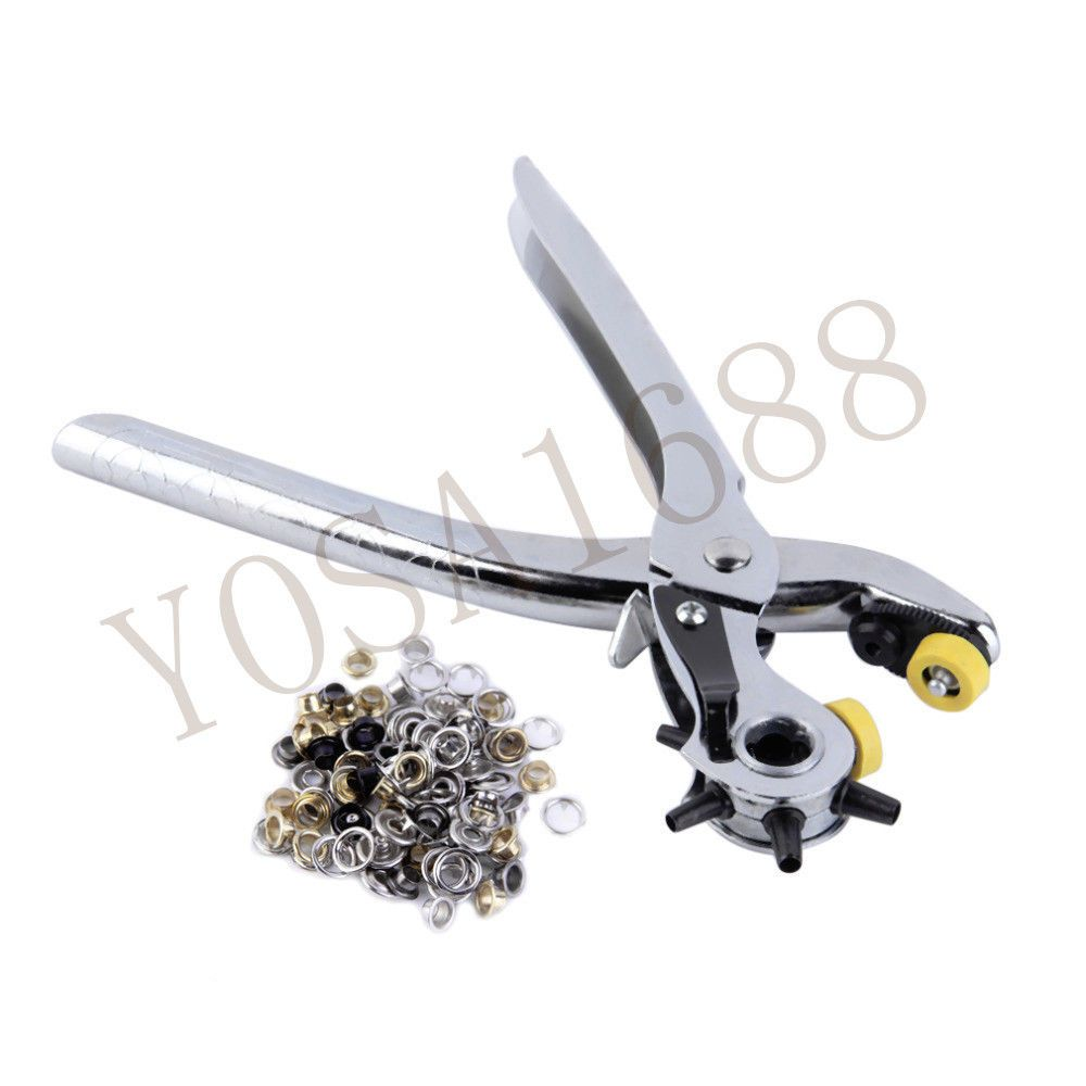 Leather Hole Puncher Multi-function Portable Punch Heavy Duty Hand Pliers Belt