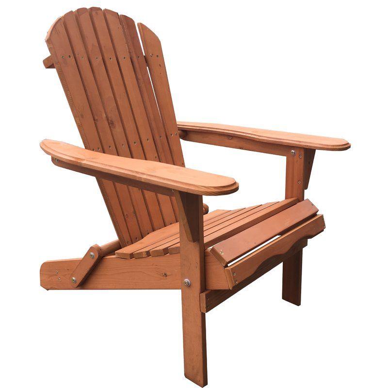 Cuyler Solid Wood Folding Adirondack Chair Wood Adirondack