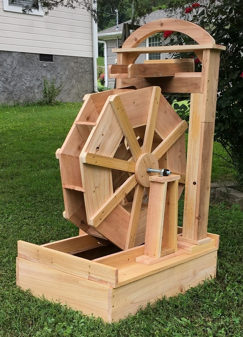 how to make a water wheel model