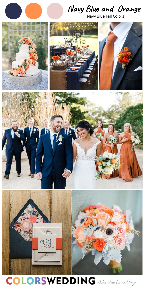 Top 8 Navy Blue Fall Wedding Color Combos