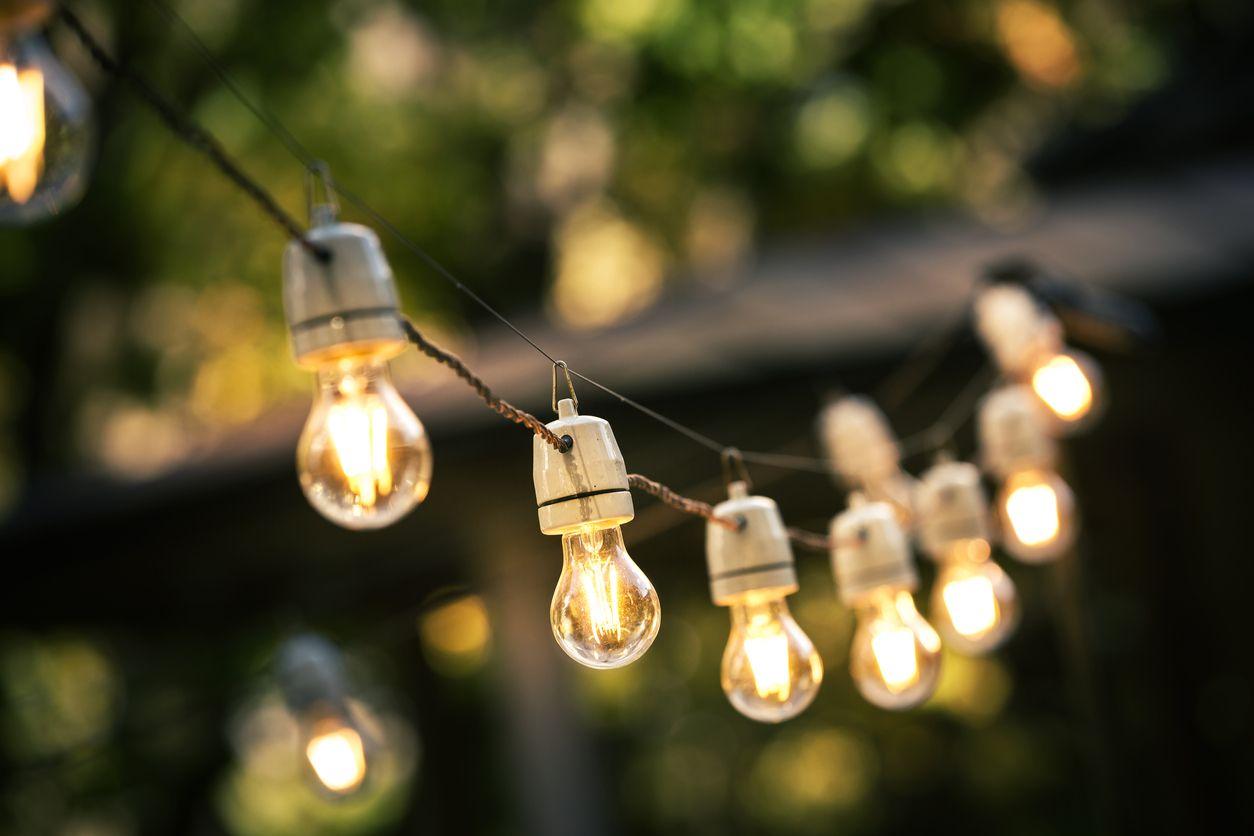 Uitgelezene Afbeeldingsresultaat voor tuin lampjes slinger (met afbeeldingen NU-04
